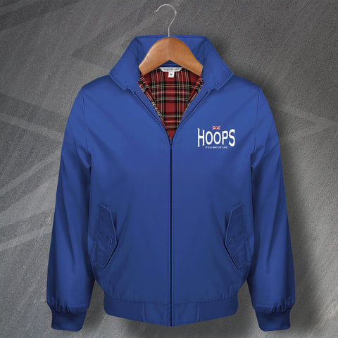 Hoops It's a Way of Life Embroidered Classic Harrington Jacket
