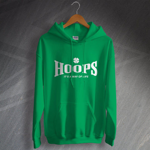 Celtic Football Hoodie Hoops It's a Way of Life