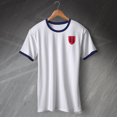 Tottenham Football Shirt Embroidered Ringer 1883