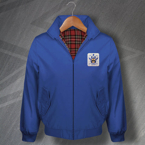 Retro Huddersfield Classic Harrington Jacket with Embroidered 1950s Badge