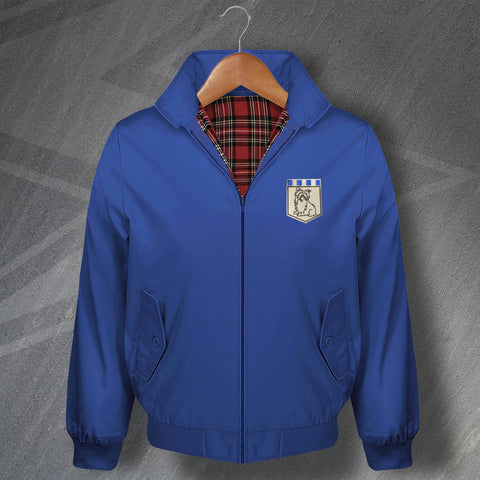 Retro Huddersfield Terriers Classic Harrington Jacket with Embroidered Badge