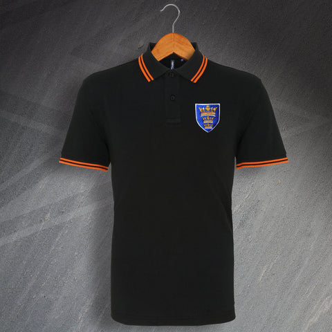 Hull Football Polo Shirt Embroidered Tipped 1935