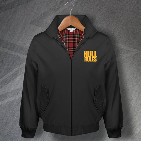 Hull Football Harrington Jacket Embroidered Hull Rules