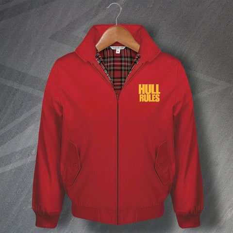 Hull Harrington Jacket Embroidered Hull Rules
