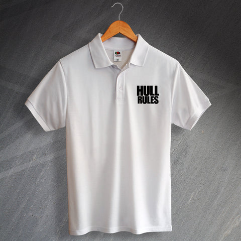 Embroidered Hull Polo Shirt