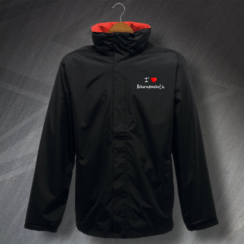 Bournemouth Jacket Embroidered Waterproof I Love Bournemouth