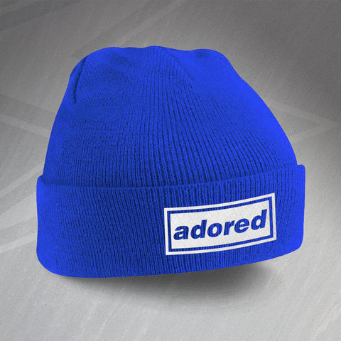 I Wanna Be Adored Embroidered Beanie Hat