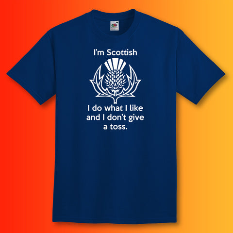 Scottish Unisex T-Shirt with I Don't Give a Toss Design