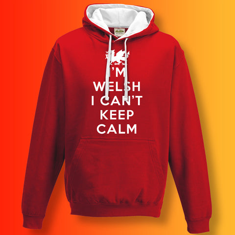 I'm Welsh I Can't Keep Calm Unisex Contrast Hoodie