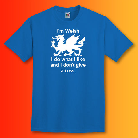 Welsh T-Shirt Royal Blue