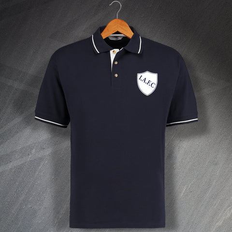 Retro Ipswich Association FC Embroidered Contrast Polo Shirt