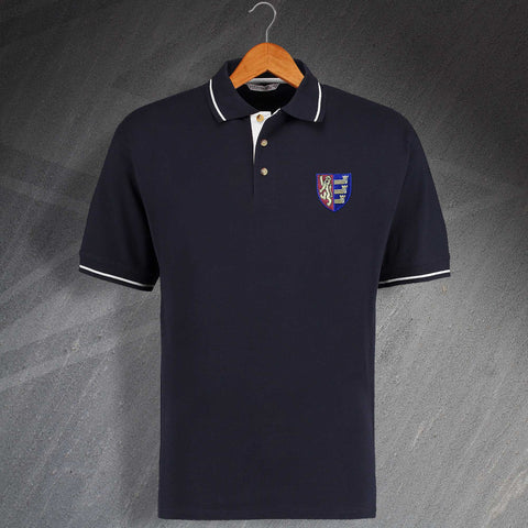 Ipswich Football Polo Shirt Embroidered Contrast 1888