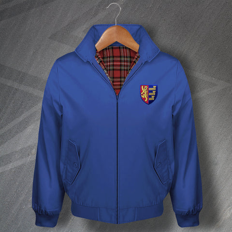 Retro Ipswich Classic Harrington Jacket with Embroidered Badge
