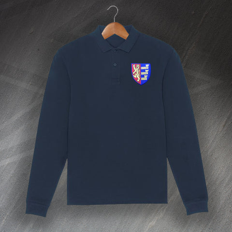 Ipswich Football Polo Shirt Embroidered Long Sleeve 1888