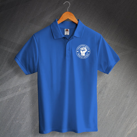 Ipswich Football Polo Shirt Embroidered Tractor Boys Pride of Suffolk