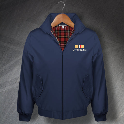 Iraq War Veteran Embroidered Classic Harrington Jacket