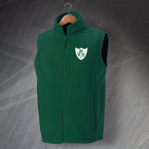Ireland Rugby Fleece Gilet Embroidered 1871