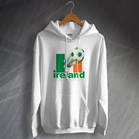 Ireland Football Hoodie Flag of Ireland & Ball