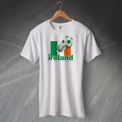 Ireland Football T-Shirt Flag of Ireland & Ball