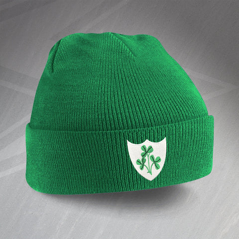 Ireland Football Beanie Hat Embroidered 1978