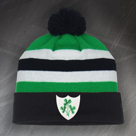 Ireland Rugby Bobble Hat Embroidered 1871
