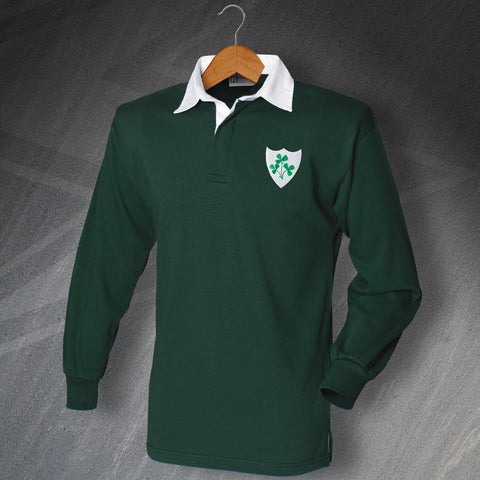 Ireland Football Shirt Embroidered Long Sleeve 1978