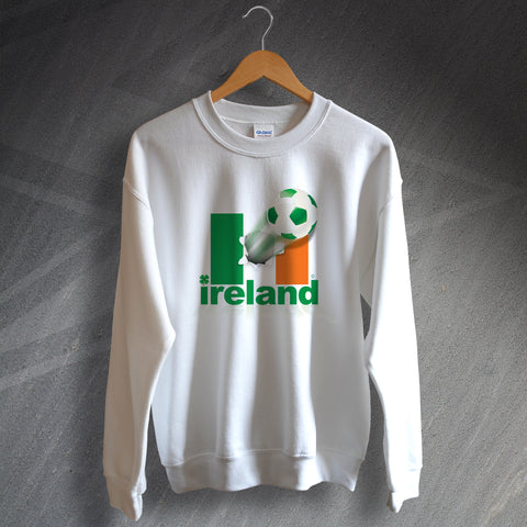 Ireland Football Sweatshirt Flag of Ireland & Ball