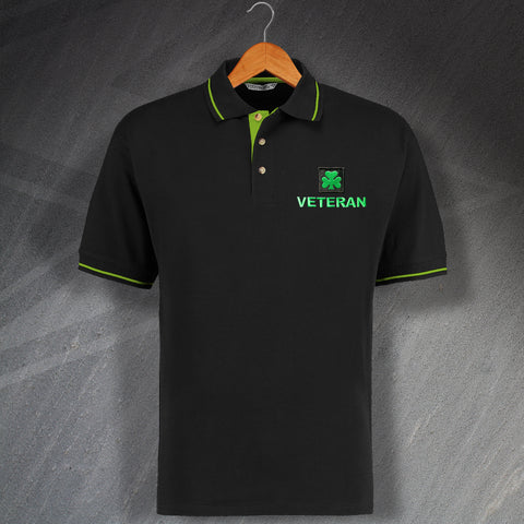 Royal Irish Regiment Veteran Embroidered Contrast Polo Shirt