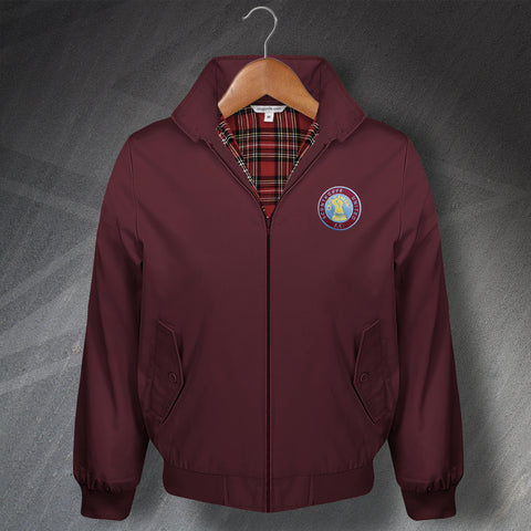 Retro Scunthorpe Classic Harrington Jacket with Embroidered Badge