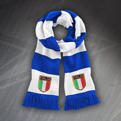 Retro Italy Bar Scarf with Embroidered Badges
