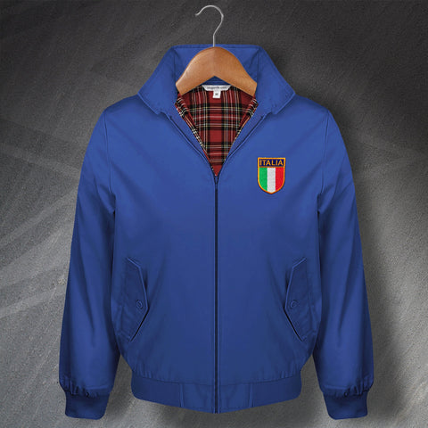 Italy Football Harrington Jacket Embroidered
