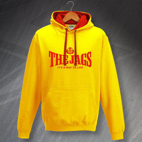 Partick Football Hoodie Contrast The Jags It's a Way of Life