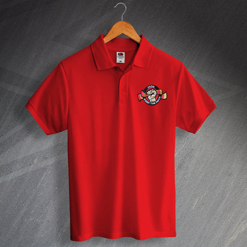 Partick Football Polo Shirt Embroidered Jags Keep The Faith