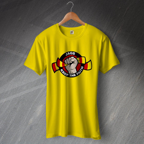 Partick Football T-Shirt Jags Keep The Faith