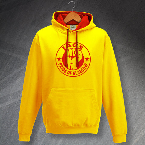 Partick Football Hoodie Contrast Jags Pride of Glasgow