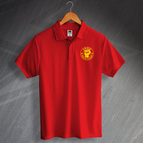 Partick Football Polo Shirt Printed Jags Pride of Glasgow