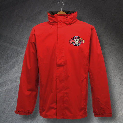 Partick Football Jacket Embroidered Waterproof Jags Keep The Faith