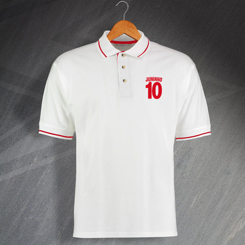 Middlesbrough Football Polo Shirt Embroidered Contrast Juninho 10