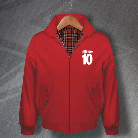 Juninho 10 Football Harrington Jacket Embroidered