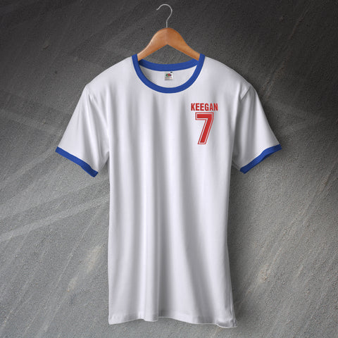 England Football Shirt Embroidered Ringer Keegan 7