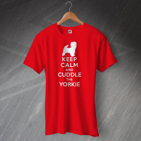 Yorkie T-Shirt with Keep Calm Design