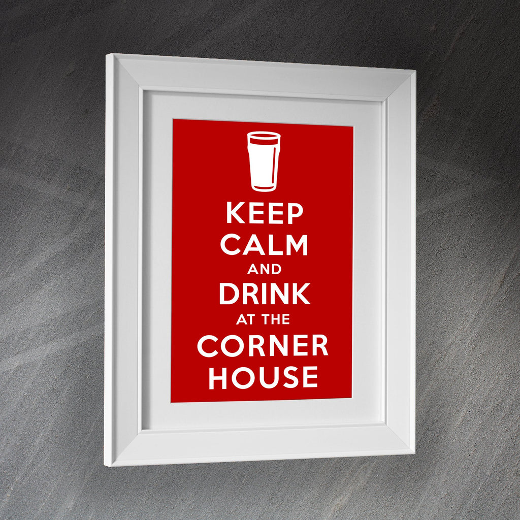 The Corner House Pub Framed Print