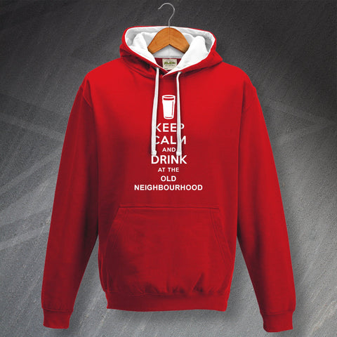 The Old Neighbourhood Pub Hoodie Contrast Keep Calm and Drink at The Old Neighbourhood