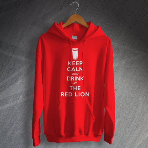 The Red Lion Pub Hoodie Keep Calm and Drink at The Red Lion