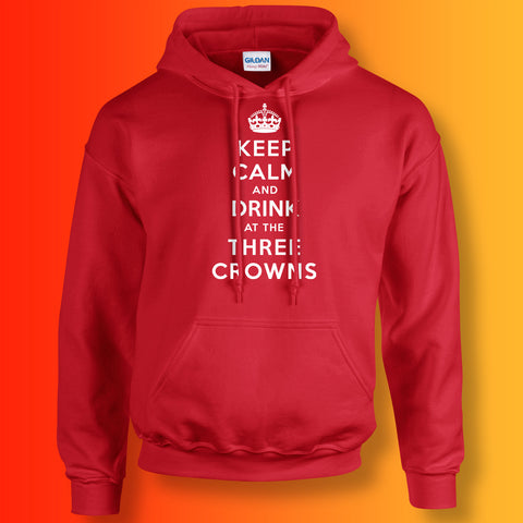The Three Crowns Pub Hoodie with Keep Calm Design