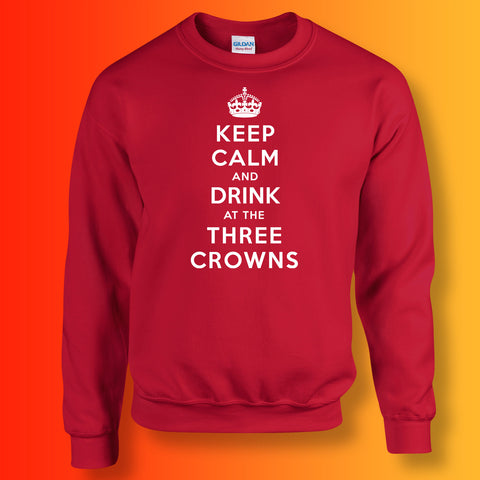 The Three Crowns Pub Sweatshirt with Keep Calm Design
