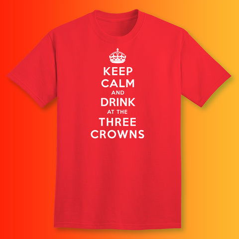 The Three Crowns Pub T-Shirt with Keep Calm Design