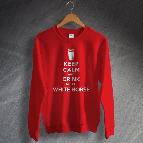 The White Horse Pub Sweatshirt Keep Calm and Drink at The White Horse