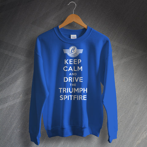 Personalised Keep Calm Sweatshirt with any Classic Car Name or Model