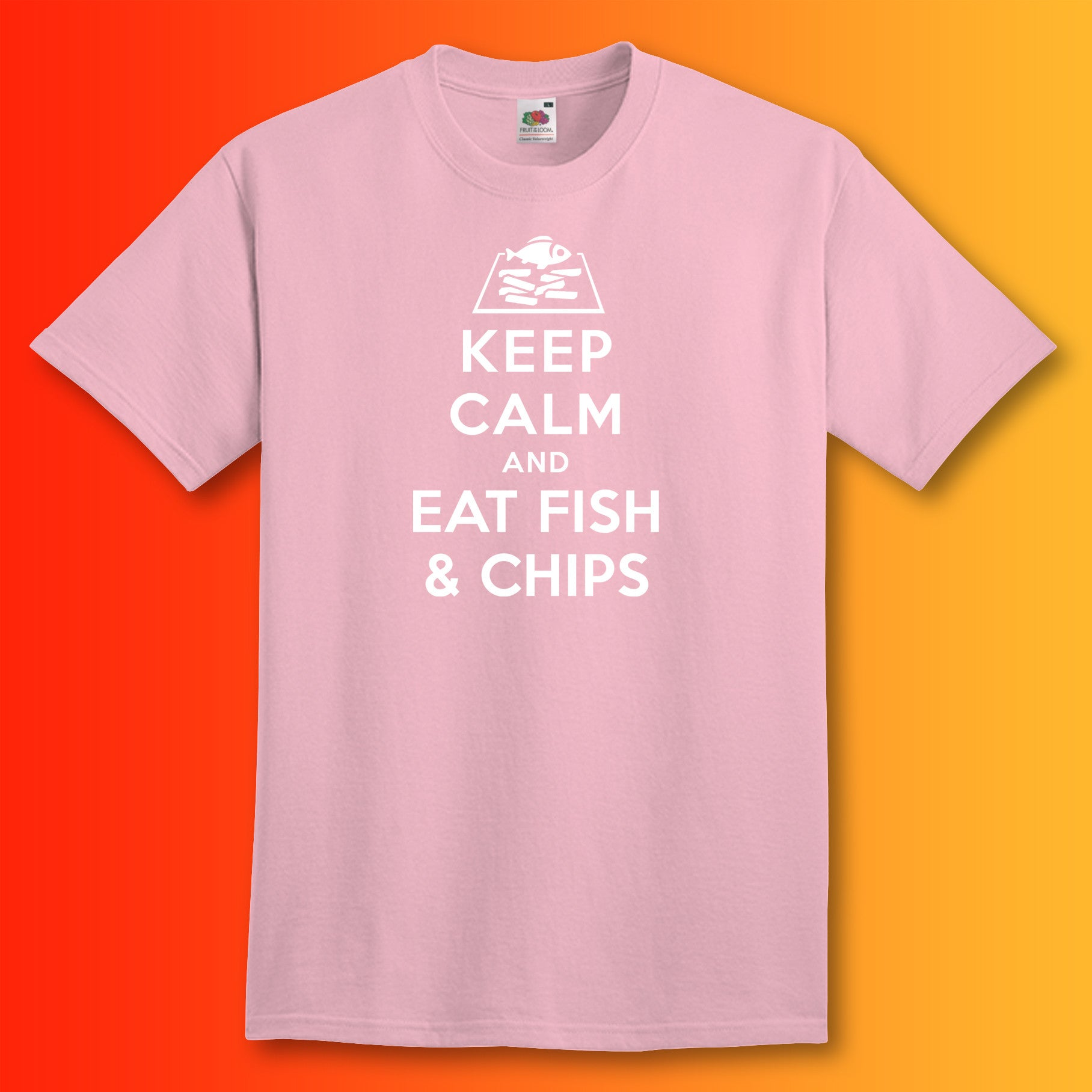 T shirt design keep calm - Fish And Chips T Shirt For Sale Shop Online For Fast Food Clothing Sloganite Com